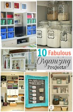 DIY:  10 Fabulous Organizing Projects - for the closet, pantry, office, bathroom - everything!