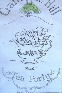 Crabapple Hill Embroidery Stitch Patterns Teacups - Flowers - Garden YOU CHOOSE   eBay