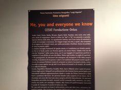 Me, you and everyone we know, CESVI Fondazione Onlus