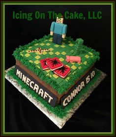 I am so thankful to my daughter for her help on this cake!  I am not a gamer, but she is and she was 100% involved in the design of this cake.  Odd when I have to defer to my 12 year old, but she deserves a lot of credit for this cake!  www.facebook.com/icingonthecake1