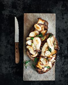 Bread with Fried Mushrooms