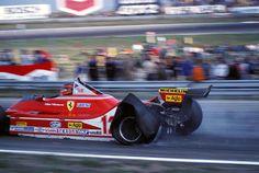 Gilles Villeneuve toujours retour au strand G.P. Zandvoort 1979