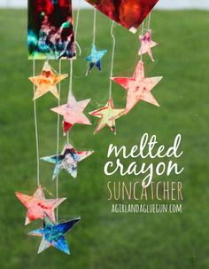 melted crayon suncatchers #ChooseDreams