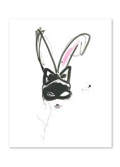 Bunny Ears by Miyuki Ohashi, prints on buddyeditions.com