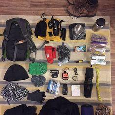 Get ready for a #freezing #cold #catskills #bushwhack. #hudsonvalleyny #survival #bushcraft #survivalgear #firesteel #compass #hiking #neverstopexploring #hikehost #trekking @nalgene1036 #bandana #leatherman #esee #map #shelter @BuffUSA @paracordplanet @blackdiamondeq #selfreliance #crampons #sawyersqueeze #firstaidkit #nikon @ospreypacks