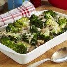 Broccoligratäng med kassler och champinjoner - Recept från Mitt kök - Mitt Kök