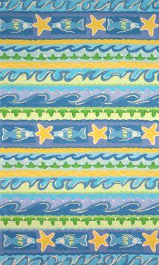 Muliticolorful beachy  area rug  So pretty & colorful!