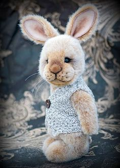 "Three O'Clock Bears ~ Bertie the Bunny (10"" tall + ears)"