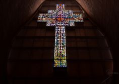 Stained-glass cross
