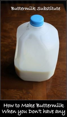 Easy way to Substitute Buttermilk in Recipes