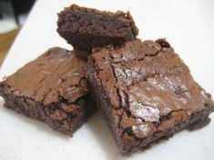 The Best Brownies from Food.com: These brownies are not cake-like. They are more moist and gooey. I always undercook them a bit because we like them very moist.