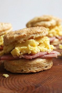 Chef Marcus Samuelsson makes incredible biscuits, adding a little bit of nutty brown butter to amp up the flavor. He serves them warm, spread with tangy-sweet tomato jam, fried ham and perfectly scrambled eggs with cheddar cheese.#breakfastrecipes #brunchrecipes #breakfastideas #brunchideas