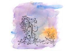 Méditation - Dessin automatique en volutes d'encre. dessin aquarelle et plume par TillyFoO . ❤❤❤❤❤❤