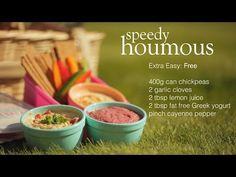Slimming World speedy houmous recipe Slimming World Houmous, Slimming World Recipes, Greek Yogurt Recipes, Greek Yoghurt, Syn Free Food, Kitchen Witchery, Chickpea Recipes, Vegetarian