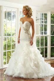 Image result for fluffy trumpet wedding dresses