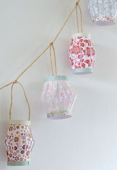 DIY Paper Lantern Garland ♥ Found here! Click here for more DIY inspiration!