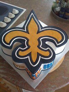 Superbowl XLIV Saints cake by UGJ, via Flickr