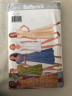 Butterick Classics Dress Pattern 4994 Size 12-14-16  | eBay