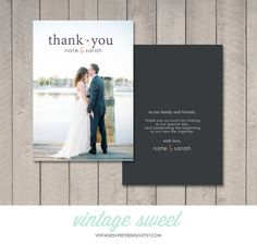 Wedding Thank You Card (Printable) by Vintage Sweet by vintagesweetdesign on Etsy https://www.etsy.com/listing/165982901/wedding-thank-you-card-printable-by