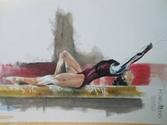 """Saatchi Art is pleased to offer the painting, """"Gymnast Series,"""" by Giuseppe Vallesi. Original Painting: Oil on Paper. Size is 0 H x 0 W x 0 in. Gymnastics, Saatchi Art, Original Paintings, Artist, Fitness, Physical Exercise, Ejercicio, Physical Education Activities, Artists"""