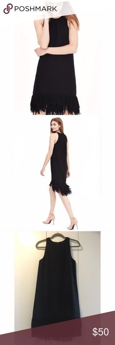 Banana Republic NWT Black fringe dress size 6 Banana Republic NWT size 6 black fringe dress. Super cute, perfect for 1920s party! Banana Republic Dresses