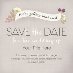 electronic save the date templates