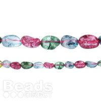 Crystal Dyed Tourmaline Long Drilled Nuggets 16
