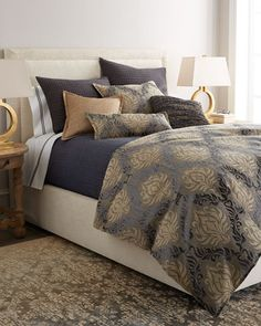 Natasha Bedding by Isabella Collection by Kathy Fielder at Horchow. Bed Linen Design, Duvet Cover Design, Bed Design, Bedroom Retreat, Bedroom Bed, Bedrooms, Bedroom Ideas, Master Bedroom, Bed Duvet Covers