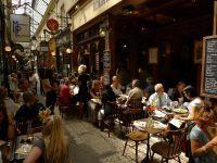 Sample of Paris life at 19th century shopping arcades