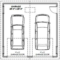 Garage dimensions google search andrew garage pinterest 3 car garage cars and car garage - Taille garage voiture standard ...