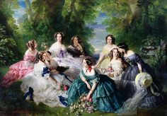 Императрица Евгения с прислуживающими ей дамами. Франц Ксавьер Винтерхальтер