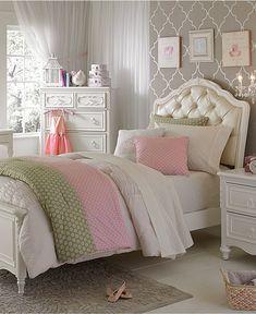 Love the pattern on the wall behind headboard Celestial Kids Bedroom Furniture - Kids' Furniture - Furniture - Macy's