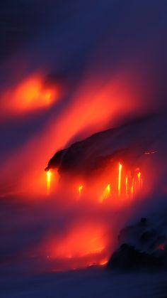 Widescreen volcano wallpaper  ololoshenka