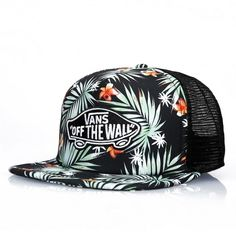 VANS Trucker Classic Patch Black Decay Palm casquettes à filet 4be3747c5577