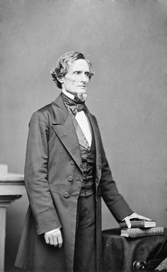 Jefferson Finis Davis (1808-1889) was an American statesman and leader of the Confederacy during the American Civil War, serving as President of the Confederate States of America for its entire history, from 1861 to 1865.   He was displaced in Southern affection after the war by the leading Confederate general, Robert E. Lee. Over time, however, admiration for his pride and ideals made him a Civil War hero to many Southerners.