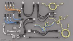 ArtStation - Hard Surface Kitbash Library - Cables/Hoses/Tubes, Mark Van Haitsma