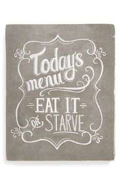 PRIMITIVES BY KATHY 'Today's Menu' Chalk Box Sign available at #Nordstrom
