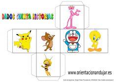 cubo para contar historias color dibujos animados 2