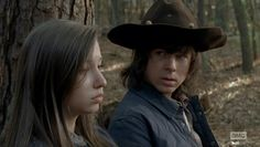 """Enid and Carl The Walking Dead 5x15 """"Try"""""""