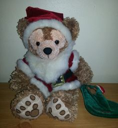 What a great gift!  Here we have a rare and very cute Christmas Duffy Hidden Mickey Bear from Walt Disney World. Wearing a Santa outfit  #Duffy #HiddenMickey #Disney