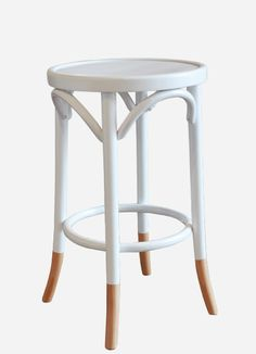 Round Bar Stool by Thonet Bentwood Chairs, Bar Chairs, Bar Stools, Clare House, Tommy Bahama Beach Chair, Adirondack Chair Plans Free, Farmhouse Table Chairs, Kitchen Stools, Chair Bench