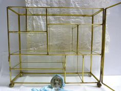 Please visit my shop on Etsy.  Vintage glass box / metal and glass box / by cgraceandcompany