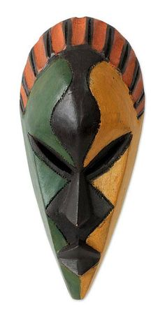 World Menagerie Colorful African Mask Wall Décor Africa Art, Masks Art, Clay Masks, African Masks, 3d Prints, African American Art, African Culture, Funny Art, Congo