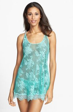 In Bloom by Jonquil 'Flower Child' Sheer Lace Chemise & Thong available at #Nordstrom