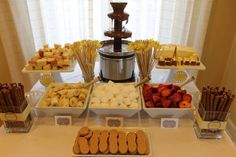 baby shower chocolate fountain - Google Search
