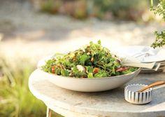 Arugula and Peach Salad | Vegetarian Times