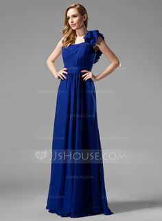 016ff9ddc99e Apparently I am all about the one shoulder look. A-Line Princess  One-Shoulder Floor-Length Chiffon Charmeuse Bridesmaid Dresses With Ruffle