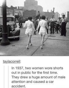 Shorts on public for the first time. ..1937