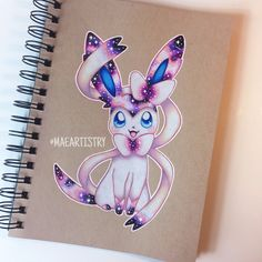 Finished Sylveon, onto the next eeveelution  ________ ‣ instagram.com/maeartistry ‣ facebook.com/marilynmaeart