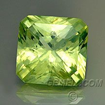 "Chrysoberyl Modified ""Radiante"" Cut - Weight: 1.84 cts - Measurements: 6.00 x 6.00 mm, depth 4.00 mm - Clarity: VVS-VS - Origin: Tanzania - Enhancements: None - Price: $ 460.00 - Flashy and brilliant light yellow-green color. Bright and beautiful."